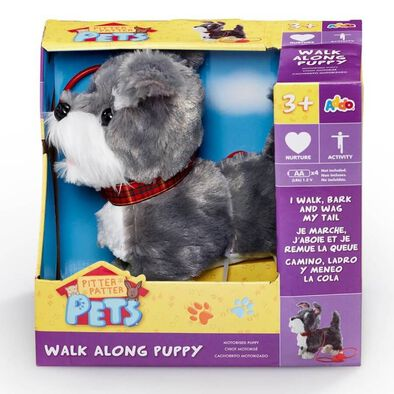 Pitter Patter Pets Walk Along Puppy (Grey And White)