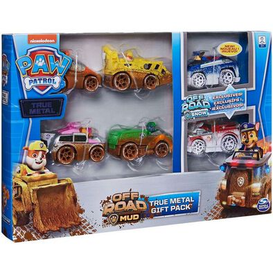 Paw Patrol True Metal Off Road Gift Pack of 6 Collectible Diecast