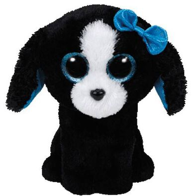 Ty Beanie Boos 6 Inch Tracey The Black-White Dog