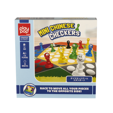 Play Pop Mini Chinese Checkers Strategy Game