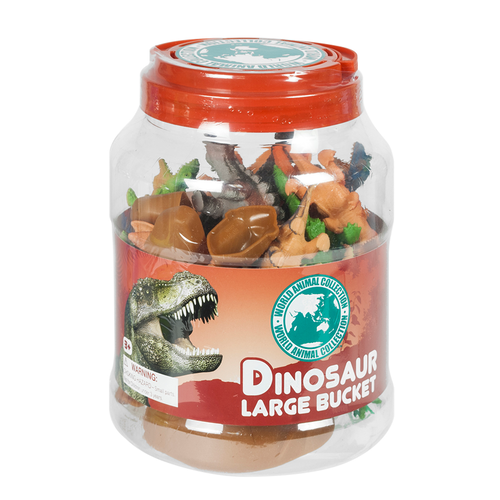 World Animal Collection Dinosaur Large Bucket