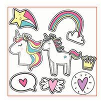 Amscan Invitation Card 6 Pieces Unicorn
