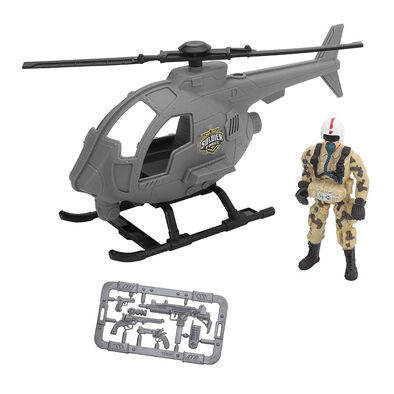 Soldier Force Patrol Vehicle Playset - Helicopter