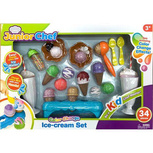 Junior Chef 34 Pieces Ice-Cream Set