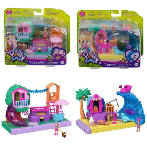 Polly Pocket Pollyville Outdoor - Assorted