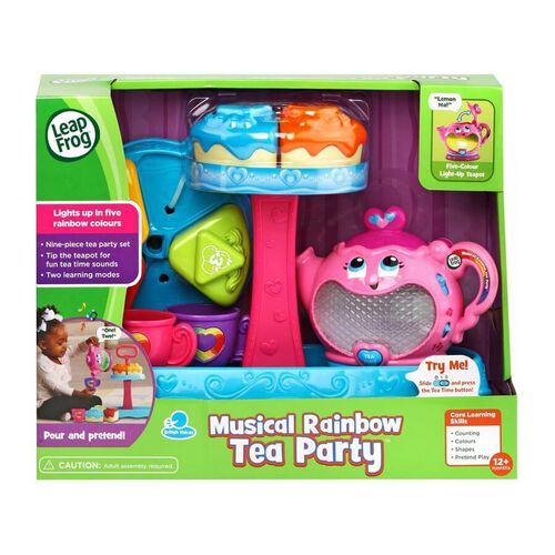 LeapFrog New Musical Rainbow Tea Party With Cake Stand