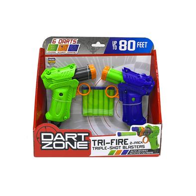Dart Zone Tri-Fire Triple-Shot Blaster 2 Pack