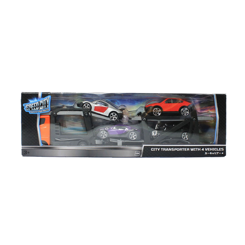Speed City City Transporter with 4 Vehicles