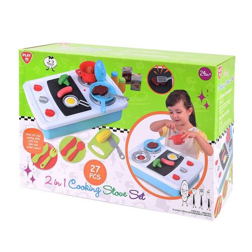 Play Go 2 In 1 Battery Operated Cooking Stove Set (27 Pcs)