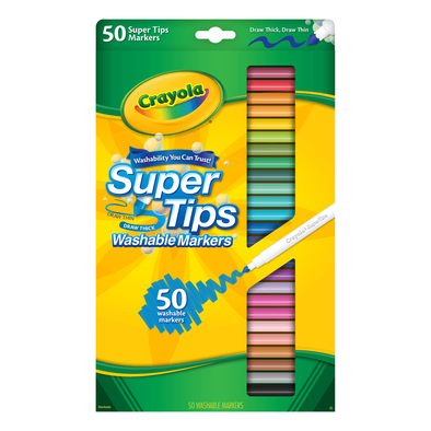 Crayola 50 Colors Super Tips Washable Marker