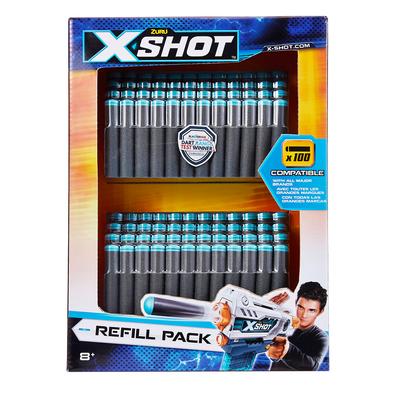 X-Shot 100 Darts Refill Pack - Assorted