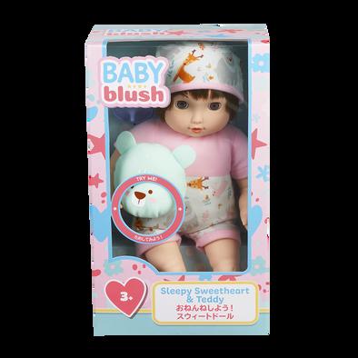 Baby Blush Sleepy Sweetheart & Teddy Doll