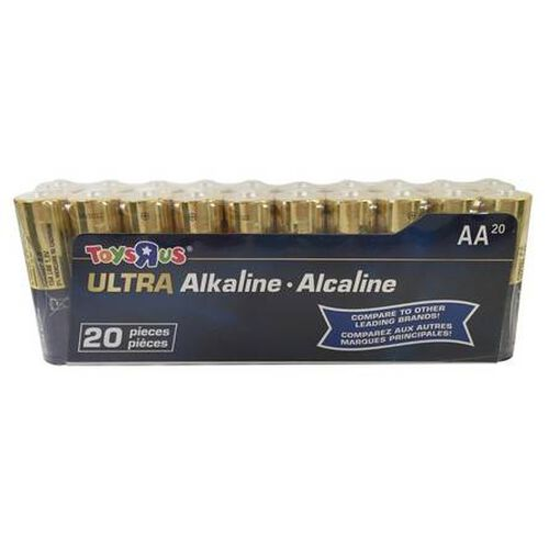 """Toys""""R""""Us Ultra Alkaline AA Batteries Pack 20 Pieces"""