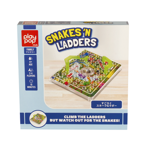 Play Pop Snakes 'N Ladders Family Game