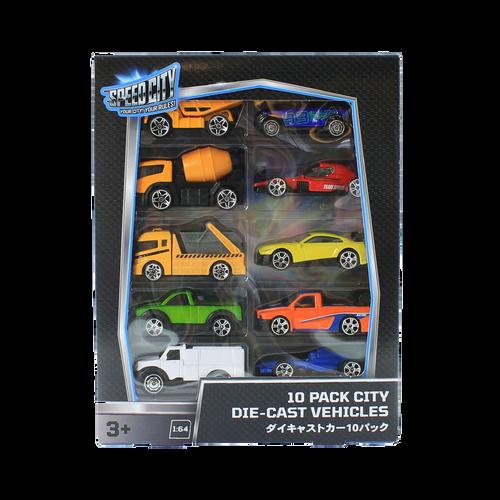 Speed City 10 Pack City Diecast vehicles
