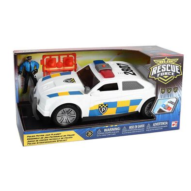 Rescue Force Police Patrol Car Playset