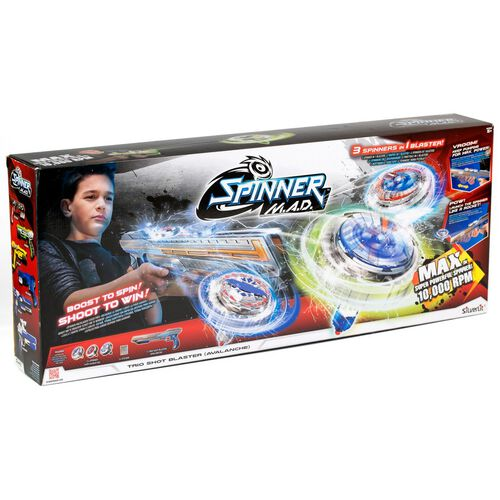 Silverlit Spinner M.A.D Trio Shot Blaster Avalanche
