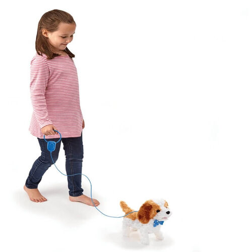 Pitter Patter Pets Walk Along Puppy (Brown And White)