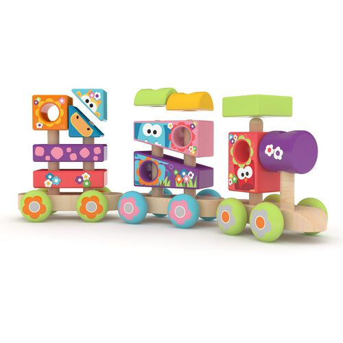 J'adore Wooden Stacking Train