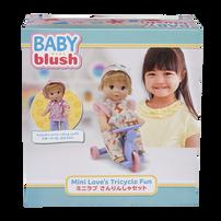 Baby Blush Mini Love's Tricycle Fun Doll Set