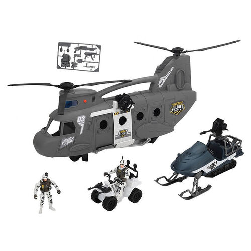 Soldier Force Chinook CarrierPlayset