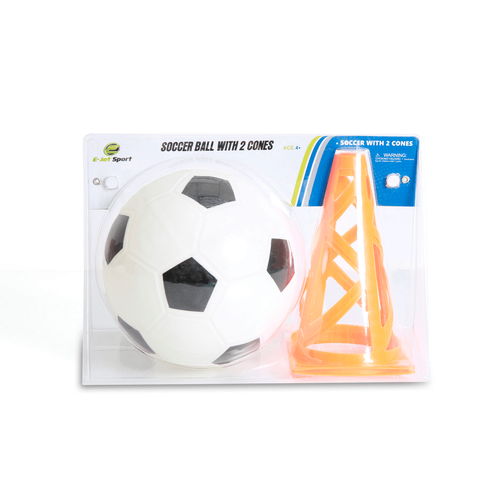 E-Jet Game Soccer Ball With 2 Cones