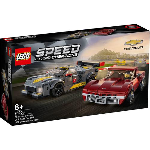 LEGO Speed Champions Chevrolet Corvette C8.R Race Car And 1968 Chevrolet Corvette 76903
