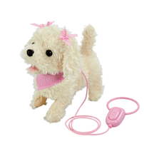 Pitter Patter Pets Walk Along Puppy Cream With Bow